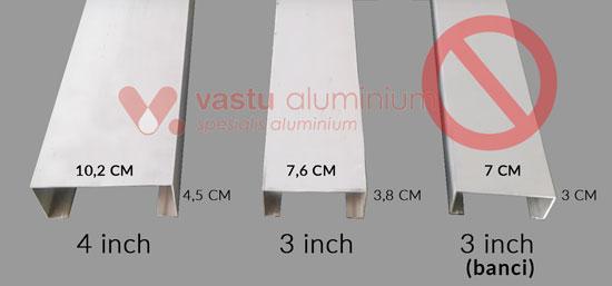 Ukuran kusen aluminium
