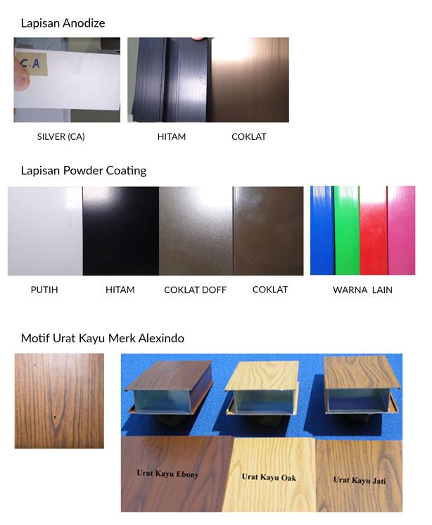 Warna Kusen aluminium di MM2100