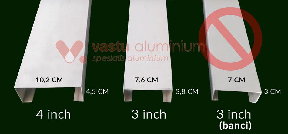 Perbandingan Kusen aluminium di Grand Wisata Tambun