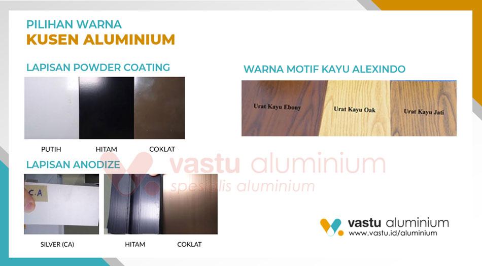 Warna Pintu Jendela Kusen Aluminium di Pasir Gombong