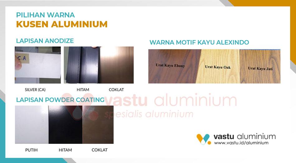Pilihan warna pintu jendela kusen aluminium di Grand Wisata tambun